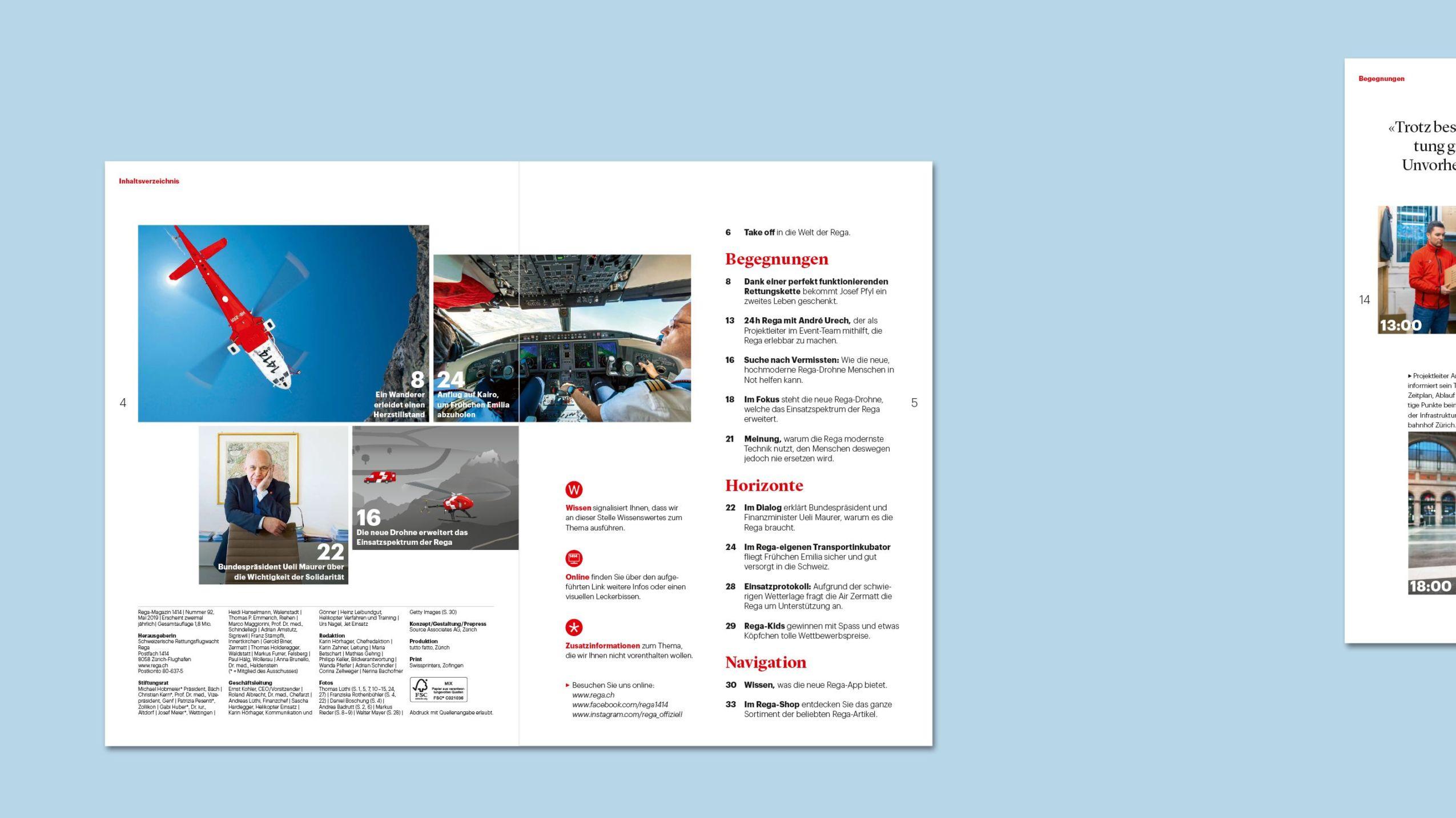 Auszug aus dem Rega-Magazin 92