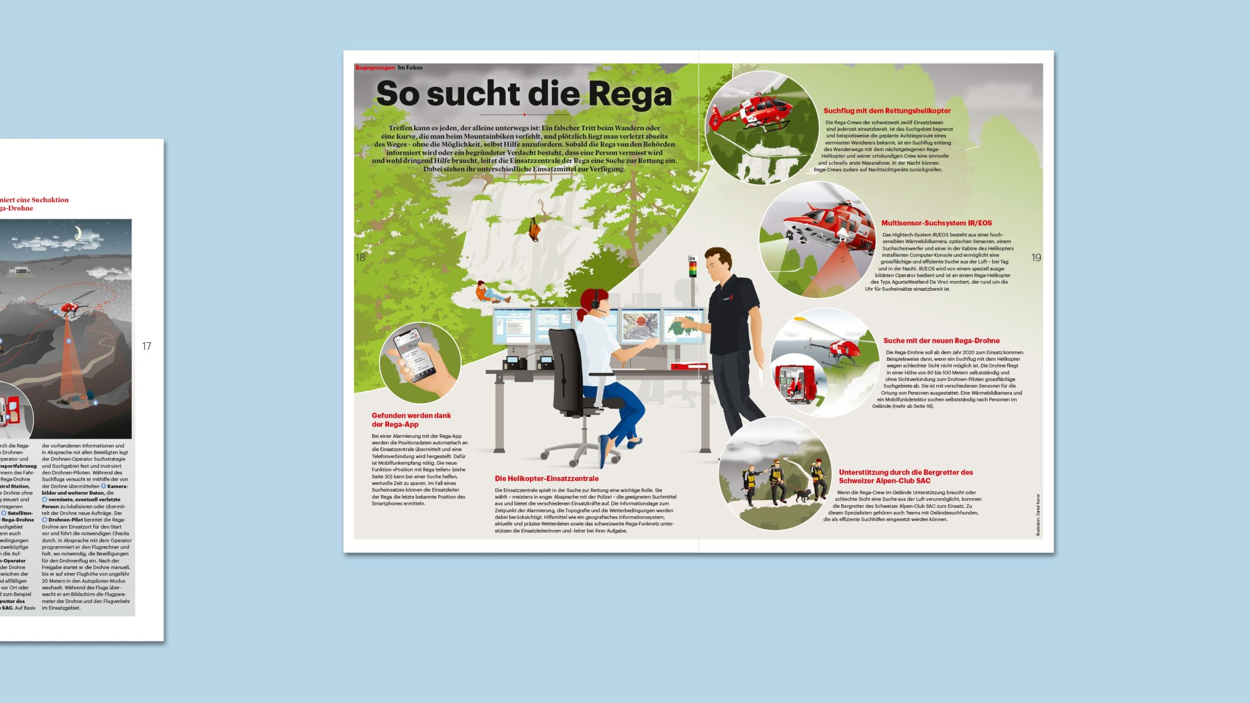 Illustration/Centerfold-Grafik im Rega-Magazin 92