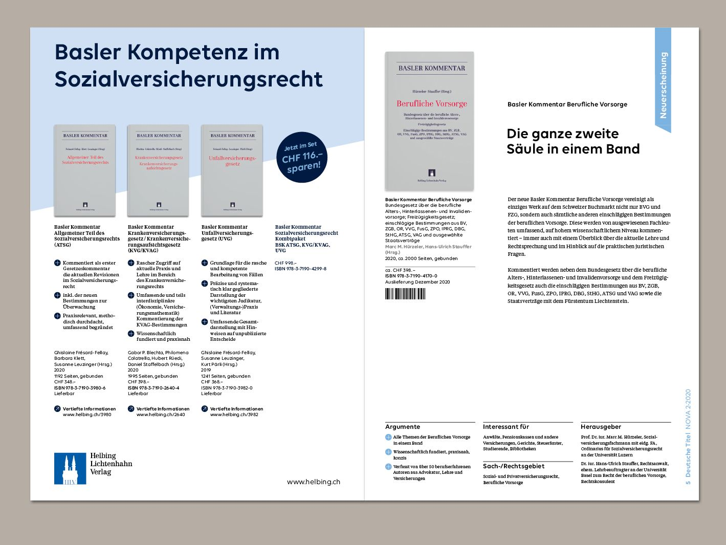 Magazin «Nova» vom Helbing Lichtenhahn Verlag